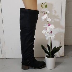 Shoes - Over the knee high black boots 6 1/2